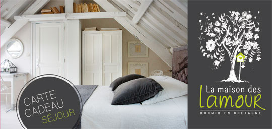 cartes cadeaux s jour week end en bretagne la maison des lamour. Black Bedroom Furniture Sets. Home Design Ideas